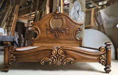 Consider this necessary illustration in order to visit the shown knowledge on bedroom furniture design Royal Furniture, Gothic Furniture, Home Decor Furniture, Bedroom Furniture, Furniture Design, Wooden Furniture, Wood Bed Design, Bedroom Bed Design, Rustic Wooden Bed