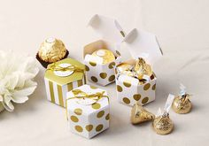 10 mini honey comb boxes favor boxes gift boxes wedding
