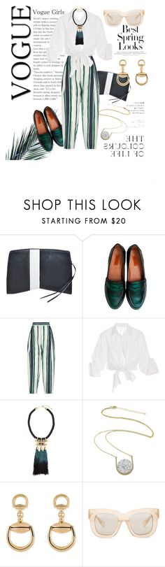 """""""BEST SPRING LOOK!"""" by katsianna ❤ liked on Polyvore featuring Narciso Rodriguez, Miz Mooz, Chloé, Johanna Ortiz, H&M, Kakao By K, Gucci and Acne Studios"""