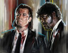 Pulp Fiction Tribute by Robert Bruno, via Behance