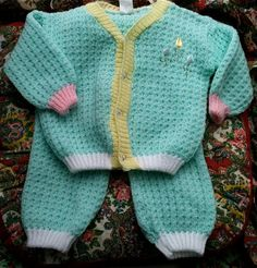 Gorgeous Knit Outfit 912 Months by lishyloo on Etsy, $14.00