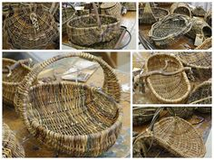 Willows: Rib Style Basket Making Willow Weaving, Basket Weaving, Crafts To Make, Arts And Crafts, Making Baskets, Bountiful Baskets, For Elise, Weaving Techniques, Handicraft