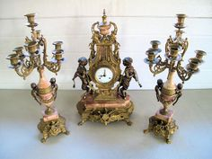 Beautiful Antique clock set to be sold Monday 17th March at 5pm