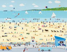 Benllech by Janet Bell Love it so much, especially as I am on it!