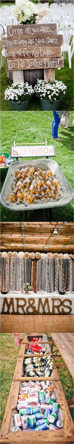 Genius Outdoor Wedding Ideas- Outdoor Wedding Receptions | http://www.weddinginclude.com/2016/11/genius-outdoor-wedding-ideas/