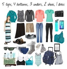 two week (or more!) trip in a carry-on by lgambill on Polyvore featuring polyvore fashion style prAna maurices Hurley Title Nine Merona Warehouse The North Face SlimSation Jockey Carve Designs H&M Gilligan & O'Malley Smartwool Clarks Skechers Everest Travelon Athleta Samsung Ray-Ban Puma Hadaki philosophy Mason Pearson Contigo clothing