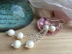 Hey, I found this really awesome Etsy listing at https://www.etsy.com/listing/289880003/white-mother-of-pearl-earrings-with