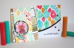 Hello it's Lisa Lahiff here with you today to share a fun way to use your Gelatos® Double Scoop and Embossing folders to create fun and colorful backgrounds. Let's get started... First pick out your embossing folder and begin mixing and matching with various Gelato® Double Scoop® colors like I...