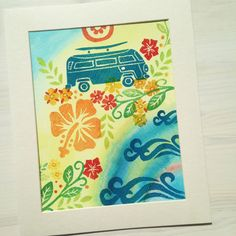 Makai  vertical print on fine art paper by LetterWood on Etsy