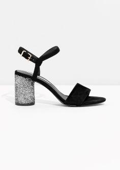 & Other Stories | Suede Sequin Heel Sandalette