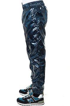 The General Windbreaker Pants in Navy Leder, Hosen, Streetwear Mode,  Marineblau, Hose 68b7dec845