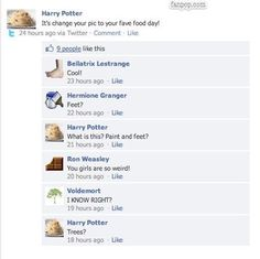 Harry Potter you better Facebook check yoself before you Facebook wreck yoself.