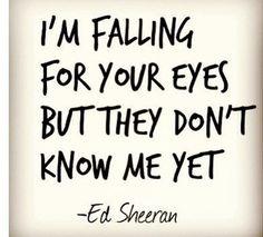 "Ed Sheeran - Kiss Me Lyrics ""I'm falling for your eyes but they don't know me yet."" #lyrics #songwriter #music"