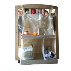 Mother & Kids Realistic Cotton Grey Baby Bed Hanging Storage Bag Newborn Crib Diaper Organizer Toy Diaper Pocket For Baby Bedding Set Nursery 50*60cm Making Things Convenient For Customers Bedding Sets