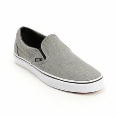 66b00d4eec12b Try the Vans Classic grey and white slip on shoes and slide