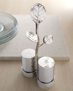 "home decor & kitchen interior design - ShopStyle: Michael Aram Botanical Leaf"" Salt & Pepper Caddy"