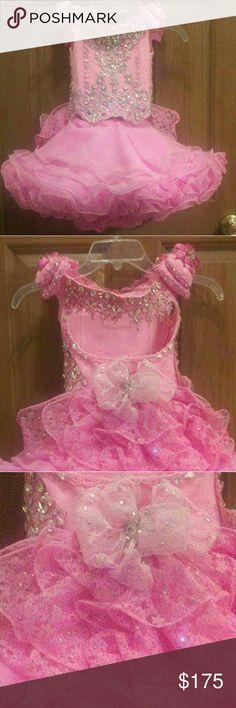 Girls formal glitz pageant dress Super cute bubble gum pink cupcake style dresd dress Dresses Formal