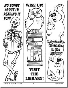 halloween bookmarks and printables - Halloween Book Marks