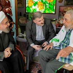 Iranian President received by former Cuban President Fidel Castro (311116)