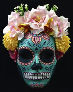 Catrina mask paper mache mask mexican mask masquerade mask