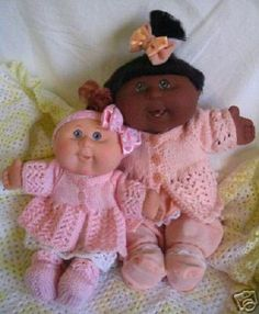 Haven  PDF KNITTING PATTERN for Doll Clothes to suit 11 & 14 inch Cabbage Patch Kids Dolls Babies Newborns and  Similar