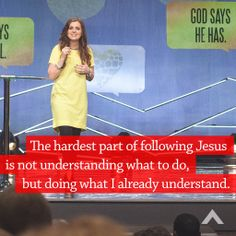 The hardest part of following Jesus is not understanding what to do, but doing what I already understand. www.elevationchurch.org