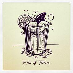 Fin & Tonic ~ Jamie Browne www.jamiebrowneart.com