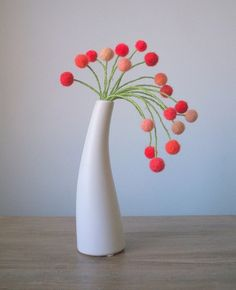 Oh the lines...the vase and the elegant Pom Pom Flowers---sublime