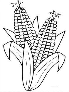 Harvesting Corn Coloring Page : Coloring Sun Vegetable Coloring Pages, Coloring Pages For Kids, Coloring Books, Corn On The Con, Corn Drawing, Corn Costume, Harvest Corn, Ears Of Corn, Corn Ear