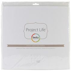 American Crafts Project Life Photo Pocket Pages 12-pack - Design B