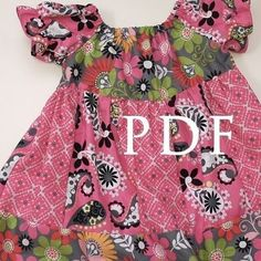 Elizabeth Claire Peasant Dress- making this dress for both granddaughters in Christmas fabrics.cute and so easy. Cute Little Girl Dresses, Girls Dresses, Toddler Outfits, Kids Outfits, Peasant Dress Patterns, Sewing Kids Clothes, Kids Clothing, Clothing Patterns, Sewing Patterns
