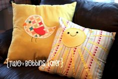 Cute tutorial for nursery pillows!