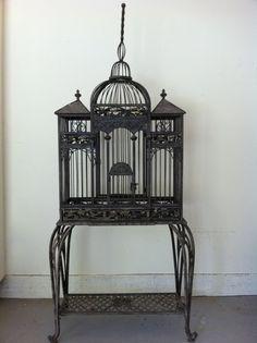 wrought iron birdcage