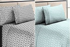 4-Piece Set: Jill Morgan Luxurious Printed Sheets  The Luxurious Jill Morgan Solid Sheet Set will make you dream of your bed. 69% OFF