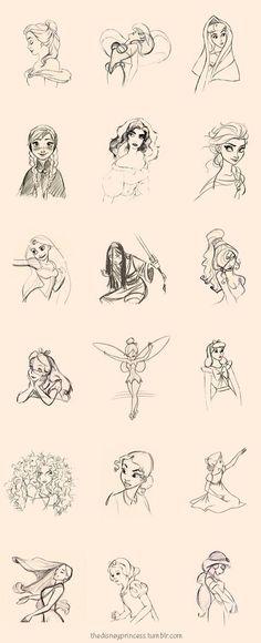 Disney art Disney Princess line drawings Disney Pixar, Disney Animation, Walt Disney, Disney And Dreamworks, Disney Magic, Disney Art, Disney Characters, Disney Ideas, Frozen Disney