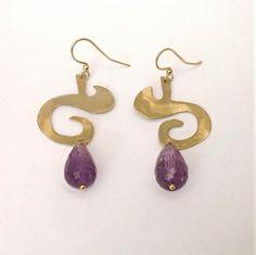Myhandmadejewels-Earrings brass