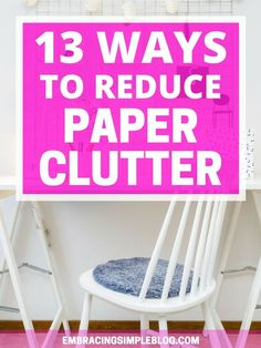 Overwhelmed by the piles of paperwork throughout your home? Use these strategies and ways to reduce paper clutter so that you can enjoy having clean and clutter-free surfaces. Let's tame the paper monster once and for all!