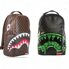 Bape Shark Backpack >> Sprayground Backpack LV Sharks In Paris Bag Damier Louis ...