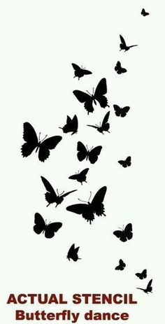 Butterfly Silhouettes Tattoo Idea