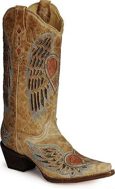 Corral Angel Wing Heart Cowboy Boots by deanne