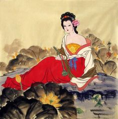 Chinese Artwork   Chinese Beautiful Ladies Painting Traditional Chinese painting of ...