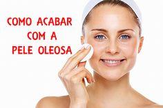 A pele oleosa é bastante comum, caracteriza-se por um brilho concentrado na zona T (testa, nariz e queixo) e pelos poros dilatados. O excesso de oleosidade