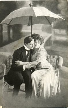 Vintage Real Photo Postcard of a Courting Couple postmarked 1914. £3.25, via Etsy.