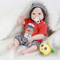23 Inch New Arrival Reborn Baby Boy Dolls With Real Human HaiR Can Sit And Lie Best Choice For Babies Birthday Xmas Gift