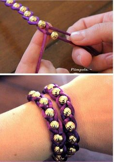 Home made bracelet. Super easy and cute!