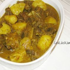Jamaican Curry Goat Recipe  - When you sub the goat for chicken, it's my favorite dish!
