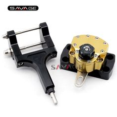 129.99$  Watch here - http://alialo.worldwells.pw/go.php?t=32713957407 - For HONDA MSX 125 Grom/Monkey 2013 2014 2015 Gold Motorcycle Reversed Safety Steering Damper Stabilizer with Mount Bracket 129.99$