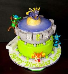 Skylander Birthday Cake Designs Picture Inspirations in Birthday Cake Happy Birthday Cake Pictures, Happy Birthday Cakes, Birthday Ideas, Birthday Parties, Party Sweets, Occasion Cakes, Cakes For Boys, Creative Cakes, Themed Cakes