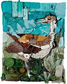 Ocean Hues, Paintings in Beach Plastics   Tess Felix