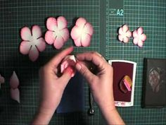 Valita-Making punch art Peony Flowers